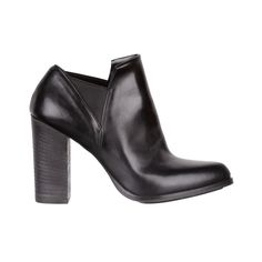 black leather chunky shoes - fiorifrancesi