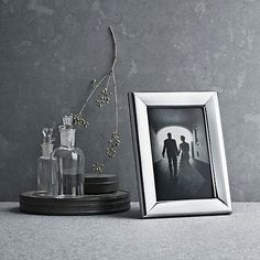 This Georg Jensen photo frame is a timeless style with an innovative design - the backs are secured to the frame with magnets for easy arrangement!