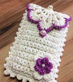 Crochet Wallet, Crochet Coin Purse, Crochet Case, Crochet Rings, Crochet Purses, Diy Crochet, Crochet Crafts, Crochet Projects, Crochet Book Cover