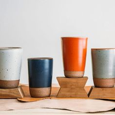The artisans at @eastforkpottery near Asheville make durable, timeless pottery by hand, including these beautiful #tumblers. Available in 9 colors for $18 each. Follow the link in our bio to buy direct from the maker.  #artisan #handmade #pottery #asheville #madeinusa #madeinamerica #cup #clay #beautiful #homegoods Made In America, Handmade Pottery, Asheville, Tumblers, Home Goods, Planter Pots, Artisan, Clay, Ice