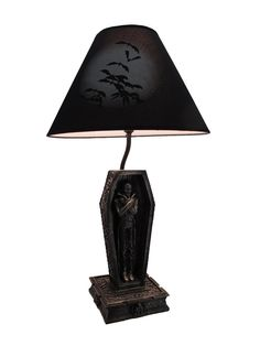 Dark Dawning Vampire in the Coffin Black Table Lamp and Fabric Shade - - Amazon.com