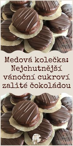 Medová kolečka: Nejchutnější vánoční cukroví zalité čokoládou Christmas Sweets, Xmas, Easter Wreaths, Cake Tutorial, Cheesecakes, Amazing Cakes, Baked Goods, Bakery, Muffin