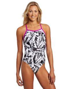 Speedo Women's X-Ray Vision Extreme Back Endurance Lite Flipturns Swimsuit, Black/White, 6/32 Speedo. $53.95