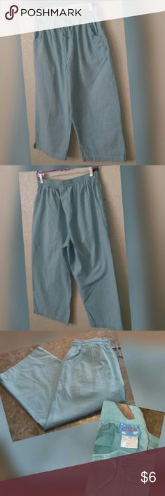 Comfy gauchos Nice mint colored gauchos in great condition has elastic waistband all around for extra comfort    COME CHECK OUT ALL MY LISTINGS BUY AND SAVE IN MY CLOSET Pants Capris