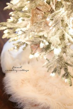 It's beginning to look a lot like Christmas- Elegant French Country Tree - French Country Cottage