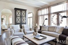 Transitional Neutral Family Room