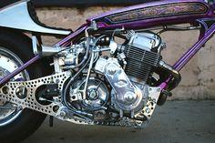Cherry Blossom - Kiyo's Turbo Honda CB750 via returnofthecaferacers.com