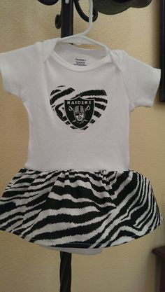 490d7878c Zebra Raiders Onesie Dress by BonitaCouture on Etsy