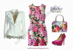 Sharing my outfit creations gathered with only affordable but nice clothing and accessories. Featuring the posts How to dress like a celebrity. Pink Pumps, White Pumps, Outfit Creator, Weaving Designs, Floral Bags, Sammy Dress, Elegant Outfit, Matching Outfits, My Outfit