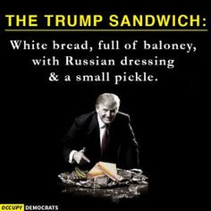 A collection of funny memes and viral images skewering Republican presidential nominee Donald Trump.: The Trump Sandwich