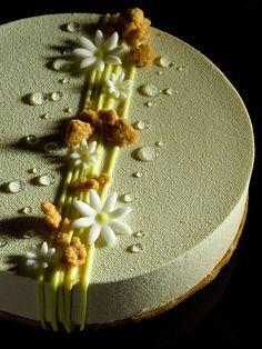 Chloe - Yuzu cremeux, white chocolate vanilla mousse, light sponge cake, almond sablé, Antoinette.