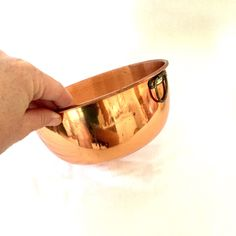 A personal favorite from my Etsy shop https://www.etsy.com/ca/listing/249415468/copper-bowl-mixing-bowl-hangable-copper