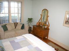 Guest Bedroom - simply furnished with antiques