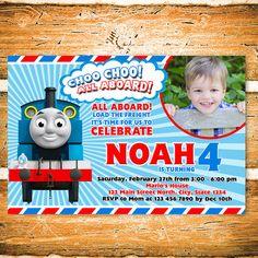 Thomas the Train Birthday Party Invitation by FantasticInvitation