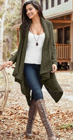 Love everything about this outfit! Best Fall Outfit Ideas With Cardigans For Women 03 Classy Fall Outfits, Winter Outfits Women, Winter Fashion Outfits, Look Fashion, Casual Outfits, Autumn Fashion, Womens Fashion, Woman Outfits, Winter Clothes For Women