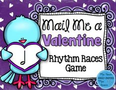 Engaging way to practice half note for Valentine's Day. 5 teams race to mail their rhythm valentines the fastest. Tons of fun and great for assessment!