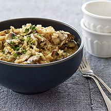 Easy, delicious and healthy Mushroom Risotto - Weight Watchers recipe from SparkRecipes. See our top-rated recipes for Mushroom Risotto - Weight Watchers. Ww Recipes, Great Recipes, Favorite Recipes, Healthy Recipes, Healthy Foods, Recipe Ideas, Stuffed Mushrooms, Stuffed Peppers, Mushroom Risotto