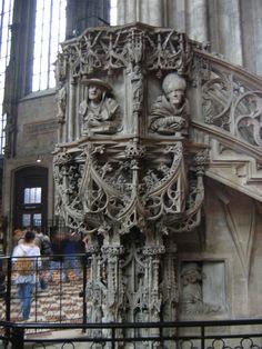 Stephansdom, Vienna Austria, Iglesias, Chor, Travel Memories, Kirchen, Architecture Details, Destinations, Lion Sculpture, Places