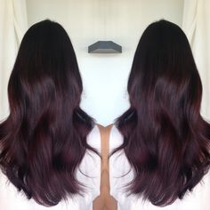 Haar ideen Kitchen Safety: Keeping Stovetops Dark Purple Hair, Burgundy Hair, Dark Hair, Pelo Color Berenjena, Hair Color For Black Hair, Red Hair, Wine Hair, Dye My Hair, Brunette Hair