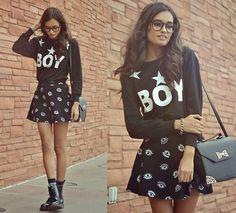 Choies Sweater, H&M Skirt, Primark Bag, Dr. Martens Boots