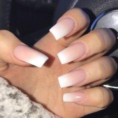 Ombré pink nail