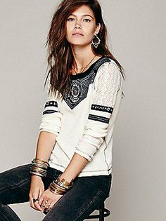 5da0e9bd8d Free People FP New Romantics Glory Days Thermal at Free People Clothing  Boutique