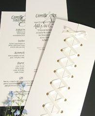 Extra simple corset invite