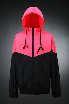 Block Colored Windbreaker