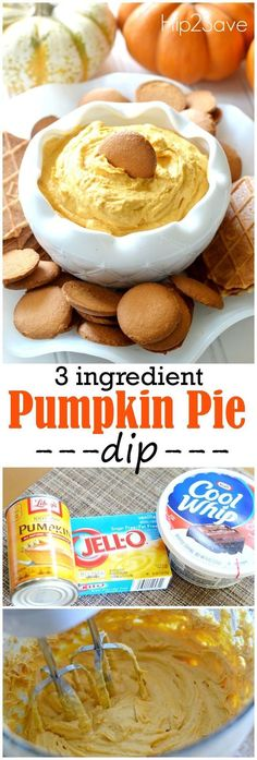 If you're looking for an outstanding and easy to throw together dip perfect for Fall gatherings check out this awesome pumpkin pie dip that calls for just three main ingredients! If you only make one pumpkin spice recipe this year this should be it! This fluffy creamy and perfectly sweet dip makes a delicious snack and/or dessert.