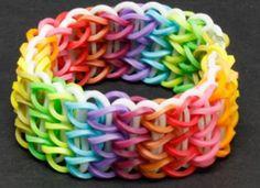 Rainbow loom triple single bracelet