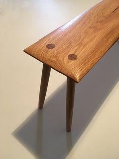 "Handmade Oak Bench 44"""