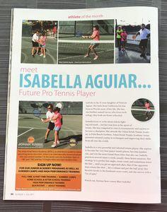 Thank you Spotlight Magazine for the story on one of our academy junior players, Isabella Aguiar. #JohanKriekTennisAcademy #JKTA #JohanKriek #Florida #tennis #IsabellaAguiar #elitetennisacademy #trainingwithrealchampions