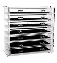 Our Seven Drawer Jewelry Chest is the perfect way to store protect and organize jewelry while being able to easily see it on display in this beautiful jewelry box. This acrylic jewelry box features seven large drawers to organize all of your jewelry. The foam beds in each drawer help protect delicate jewelry plus the d