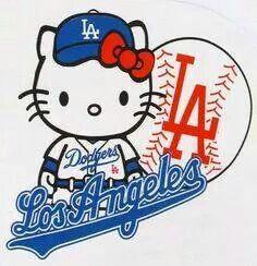 Hello Kitty go Dodgers Dodgers Shirts, Dodgers Gear, Let's Go Dodgers, Dodgers Baseball, Baseball Teams, Baseball Mom, Softball, Hello Kitty Art, Hello Kitty Birthday