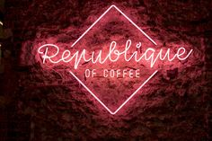 Republique Of Coffee in Paris.