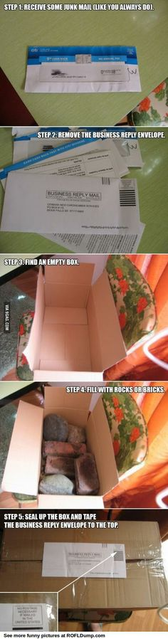 What to do with junk mail. Hilarious! Really tempted to do this!