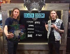 """46 kedvelés, 8 hozzászólás – Blayne Smith (@metalcomedy) Instagram-hozzászólása: """"Raddest of days at @bangerfilms today with the great #samdunn talking death/doom…"""""""