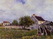 An Old Cottage at Sablons - Alfred Sisley - www.alfredsisley.org