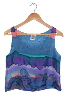 Cosmo Landscape Tank Blue Purple and Orange  Hand by sabeldesigns, $110.00