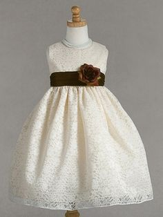 Cute for the flower girls! Except for a mustard yellow sash