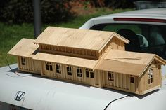 G scale model train station