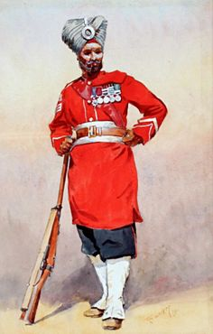 [India] - Alfred Crowdy Lovett (1862-1919), 45th Rattray's Sikhs, Pencil and watercolour heightened with white, on paper, Watercolour, signed 'A.C. LOVETT' 1911 (lower right), Mounted and framed, 38cm x 26cm.