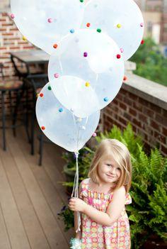 DIY Glittery Pom Pom Balloons!
