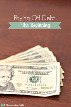 Paying Off Debt...the beginning.  ~::  A Blossoming Life  ::~