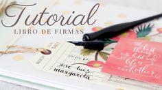 La Mar de Scrap: Tutorial: Libro de firmas Ideas Paso A Paso, Mini Albums Scrap, Mini Scrapbook Albums, Wedding Book, Scrapbooking, Bookbinding, Diy Projects To Try, Cardmaking, Cards