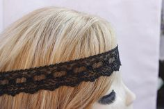 Check out this item in my Etsy shop https://www.etsy.com/listing/156515148/black-lace-headband-hippie-headband-hair