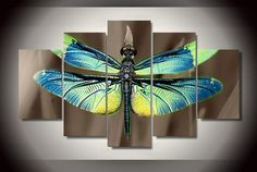 Colored Dragonfly Wall Art