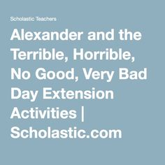 read alexander and the terrible horrible no good very bad day by judith viorst and print. Black Bedroom Furniture Sets. Home Design Ideas