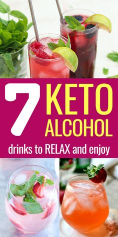 Alcoholic Drinks Recipes With Vodka, Fun Drinks Alcohol, Low Carb Cocktails, Alcohol Drink Recipes, Healthy Drinks, Cocktail Recipes, Best Alcohol, Diet Drinks, Alcoholic Beverages