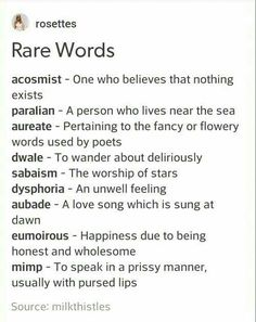 Rare Words to Use Writing Tools Book Writing Tips, Writing Words, Writing Help, Writing Prompts, Writing Ideas, Story Prompts, Writing With Color, Sentence Prompts, Creative Writing Inspiration